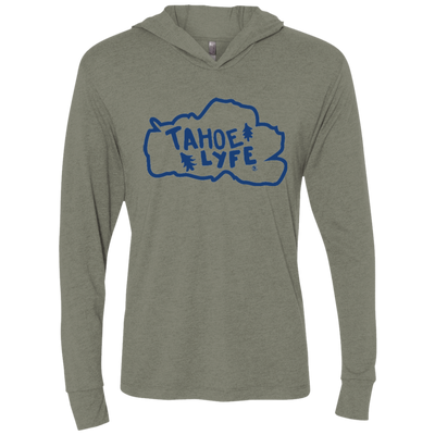 Tahoe Lyfe Blue Lake Unisex Triblend LS Hooded T-Shirt in 4 Colors