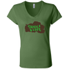 Tahoe Lyfe Brown Lake Bella + Canvas Ladies' Jersey V-Neck T-Shirt in 2 Colors
