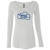 Tahoe Lyfe Blue Logo Ladies' Triblend Long Sleeve Scoop in 5 Colors