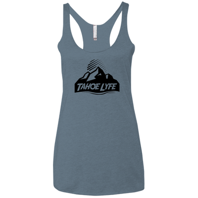 Tahoe Lyfe Black Mountain Logo Ladies' Triblend Racerback Tank