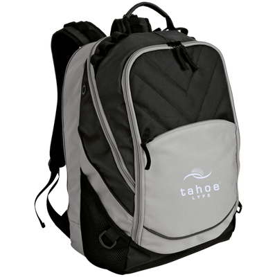 Tahoe Lyfe Modern White Logo Port Authority Laptop Computer Backpack