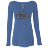 Tahoe Lyfe Brown Logo Ladies' Triblend LS Scoop in 5 Colors