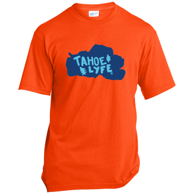 Tahoe Lyfe Solid Blue Lake Port & Co. Made in the USA Unisex T-Shirt in 5 Colors