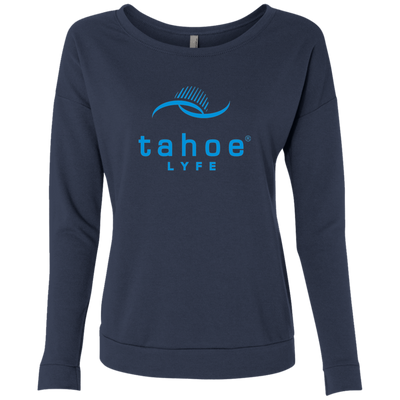 Tahoe Lyfe Blue Modern Logo Ladies' French Terry Scoop
