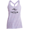 Tahoe Lyfe Black Modern Logo Ladies Cosmic Twist Back Tank
