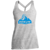 Tahoe Lyfe Blue Mountain Logo Ladies Cosmic Twist Back Tank
