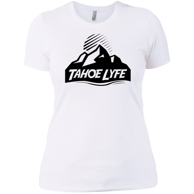 Tahoe Lyfe Black Mountain Logo Ladies' Boyfriend T-Shirt