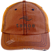 Tahoe Lyfe Modern Logo Distressed Unstructured Trucker Cap