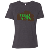 Tahoe Lyfe Brown Lake Logo Bella + Canvas Ladies' Relaxed Jersey Short-Sleeve T-Shirt in 5 Colors