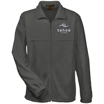 Tahoe Lyfe Modern White Logo Harriton Tall Men's Full Zip Fleece