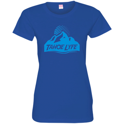 Tahoe Lyfe Blue Mountain Logo Ladies' Fine Jersey T-Shirt