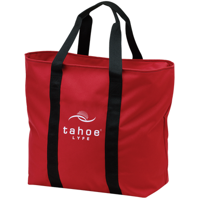 Tahoe Lyfe Modern White Logo Port & Co. All Purpose Tote Bag