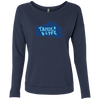 Tahoe Lyfe Solid Blue Logo Ladies' French Terry Scoop in 5 Colors