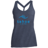 Tahoe Lyfe Blue Modern Logo Ladies Cosmic Twist Back Tank