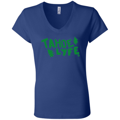 Tahoe Lyfe Bella + Canvas Ladies' Jersey V-Neck T-Shirt in 6 Colors