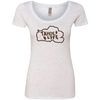 Tahoe Lyfe Brown Logo Ladies' Triblend Scoop in 5 Colors