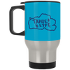 Tahoe Lyfe Blue Silver Stainless Travel Mug in 12 Colors