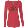 Tahoe Lyfe Green Logo Ladies' Triblend Long Sleeve Scoop in 5 Colors
