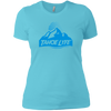 Tahoe Lyfe Blue Mountain Logo Ladies' Boyfriend T-Shirt
