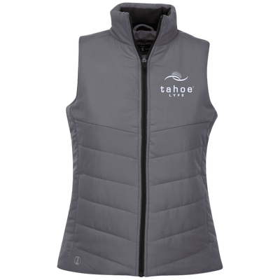 Tahoe Lyfe Modern White Logo Holloway Ladies' Quilted Vest