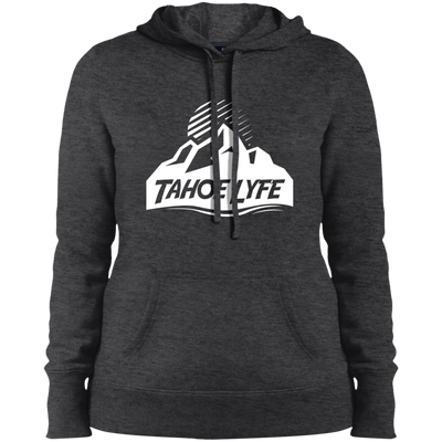 Tahoe Lyfe White Mountain Logo Ladies' Pullover Hooded Sweatshirt