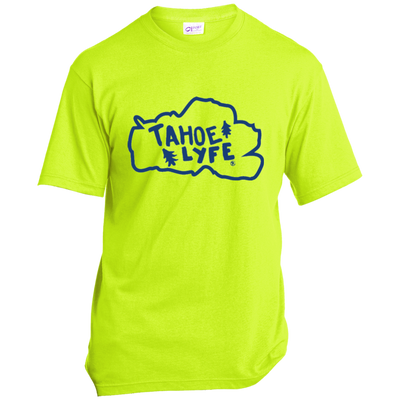 Tahoe Lyfe Blue Lake Port & Co. Made in the USA Unisex T-Shirt in 4 Colors