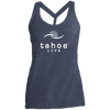 Tahoe Lyfe White Modern Logo Ladies Cosmic Twist Back Tank
