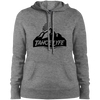 Tahoe Lyfe Black Mountain Logo Ladies' Pullover Hooded Sweatshirt