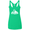 Tahoe Lyfe White Mountain Logo Ladies' Triblend Racerback Tank