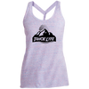 Tahoe Lyfe Black Mountain Logo Ladies Cosmic Twist Back Tank