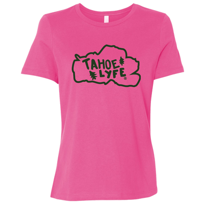 Tahoe Lyfe Green Logo Bella + Canvas Ladies' Relaxed Jersey Short-Sleeve T-Shirt in 3 Colors