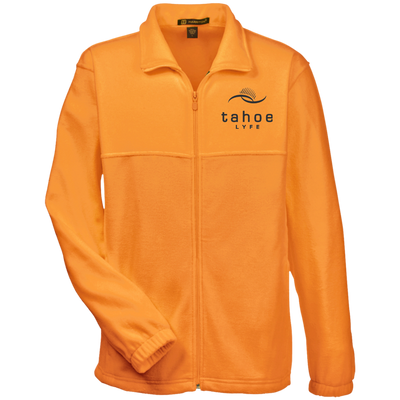 Tahoe Lyfe Black Modern Logo Harriton Tall Men's Full Zip Fleece