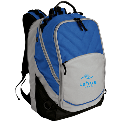 Tahoe Lyfe Modern Blue Logo Port Authority Laptop Computer Backpack