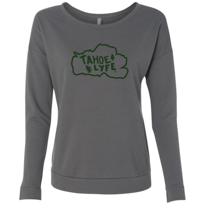 Tahoe Lyfe Green Logo Ladies' French Terry Scoop in 3 Colors