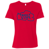Tahoe Lyfe Blue Logo Bella + Canvas Ladies' Relaxed Jersey Short-Sleeve T-Shirt in 3 Colors