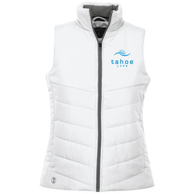 Tahoe Lyfe Blue Modern Logo Holloway Ladies' Quilted Vest