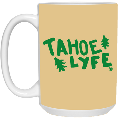 Tahoe Lyfe 15 oz. White Mug in 11 Colors