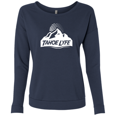 Tahoe Lyfe White Mountain Logo Ladies' French Terry Scoop