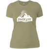 Tahoe Lyfe White Mountain Logo Ladies' Boyfriend T-Shirt
