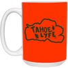 Tahoe Lyfe Green Logo 15 oz. White Mug in 11 Colors