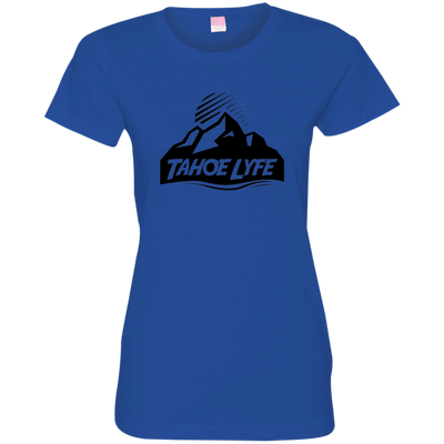 Tahoe Lyfe Black Mountain Logo Ladies' Fine Jersey T-Shirt