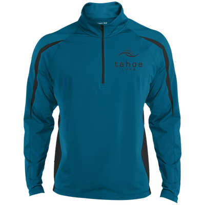 Tahoe Lyfe Modern Logo Sport-Tek Men's Sport Wicking Colorblock 1/2 Zip