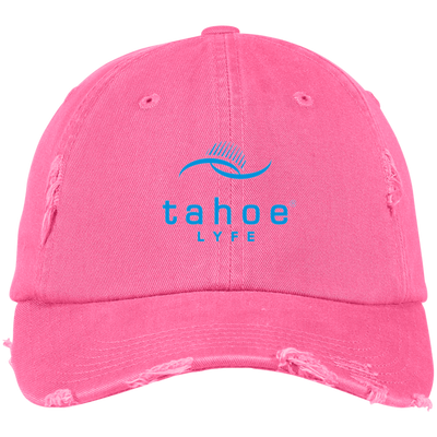 Tahoe Lyfe Modern Logo District Distressed Dad Cap