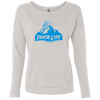 Tahoe Lyfe Blue Mountain Logo Ladies' French Terry Scoop