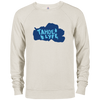 Tahoe Lyfe Solid Blue French Terry Crew in 5 Colors