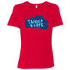 Tahoe Lyfe Solid Blue Logo Bella + Canvas Ladies' Relaxed Jersey Short-Sleeve T-Shirt in 5 Colors