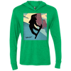 Tahoe Lyfe's Ladies' Snowboarder Triblend Long Sleeve Hooded T-Shirt