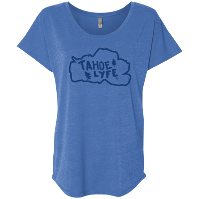 Tahoe Lyfe Blue Logo Ladies' Triblend Dolman Sleeve in 6 Colors