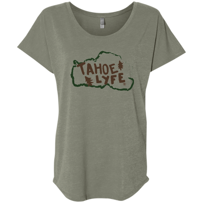 Tahoe Lyfe Rustic Ladies' Triblend Dolman Sleeve in 6 Colors