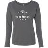 Tahoe Lyfe White Modern Logo Ladies' French Terry Scoop